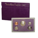 1987 US Mint Proof Set Coins