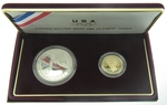 1988 US Mint Olympic 2 Proof Coin Set With COA