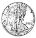 1989 1 oz American Silver Eagle Coin With Air-Tite Holder