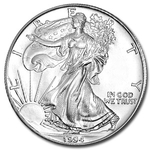1994 1 oz American Silver Eagle Coin With Air-Tite Holder