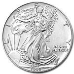 1995 1 oz American Silver Eagle Coin With Air-Tite Holder