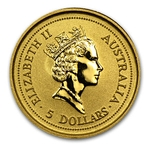 1996 1/20 Ounce Australian Gold Nugget - Click Image to Close