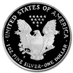 1996 P Proof American Silver Eagle Coin - Click Image to Close