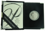 1999-W Proof American Eagle Platinum 1/2 oz Coin With Box & COA