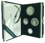 1999-W Proof American Eagle Platinum 4 Coin Set With Box & COA