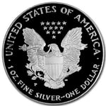 1999 P Proof American Silver Eagle Coin - Click Image to Close