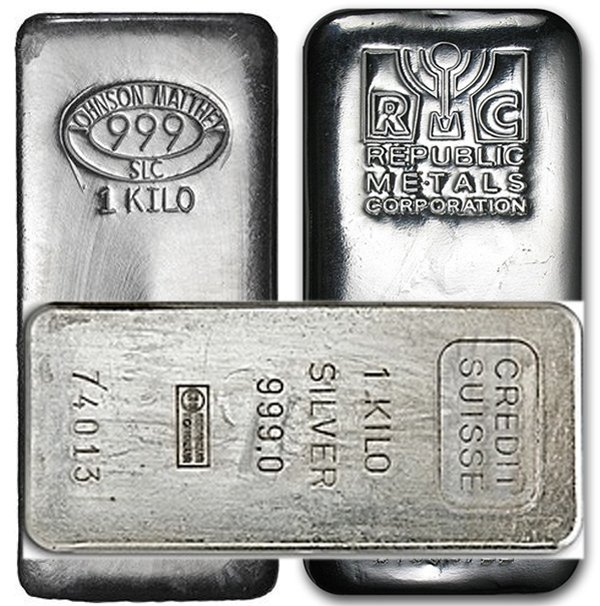 1 Kilo 32.15 oz Silver Bar - Secondary Market