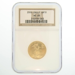 2000 1/4 oz NGC MS 69 Gold American Eagle Coin