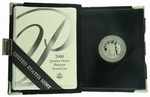 2000-W Proof American Eagle Platinum 1/4 oz Coin With Box & COA