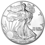 2000 1 oz American Silver Eagle Coin With Air-Tite Holder