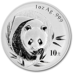2002 1 Ounce Silver Chinese Panda Coin