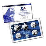 2004 US Proof Set Of 5 Piece Quarters Only
