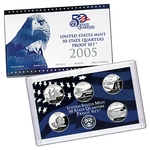 2005 US Proof Set Of 5 Piece Quarters Only