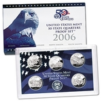 2006 US Proof Set Of 5 Piece Quarters Only