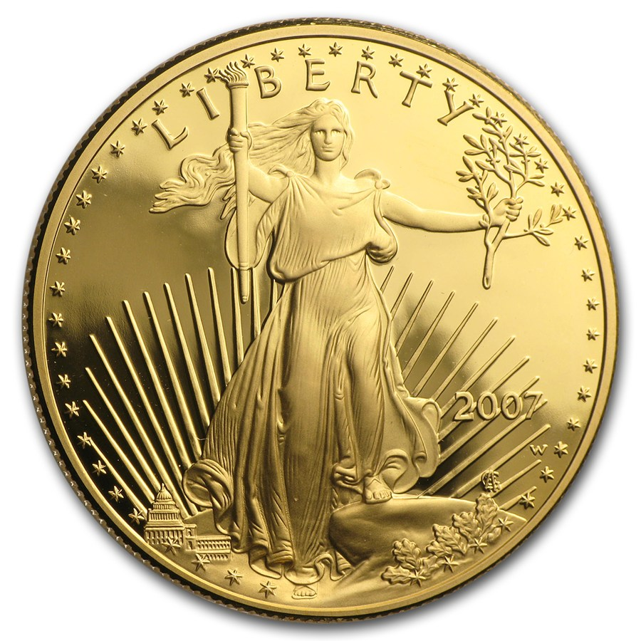 2007-W Proof 1 oz Gold American Eagle Coin With Box & COA