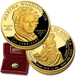 2007 W 1/2 Ounce Proof Gold Martha Washington With Box & COA