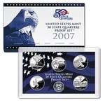 2007 US Proof Set Of 5 Piece Quarters Only