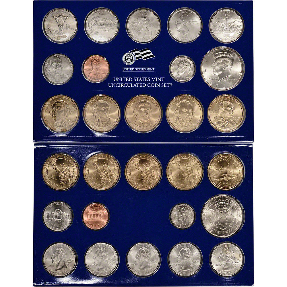 2007 Uncirculated US Mint Coin Set