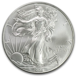 2008 1 oz American Silver Eagle Coin With Air-Tite Holder