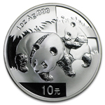 2008 1 Ounce Silver Chinese Panda Coin