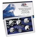 2008 US Proof Set Of 5 Piece Quarters Only