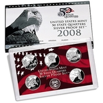 2008 US Proof Silver Set Of 5 Piece Quarters Only