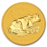 2009 1/4 Ounce Gold Lunar Year Of The Ox Coin