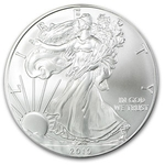 2010 1 oz American Silver Eagle Coin With Air-Tite Holder