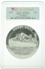 PCGS MS68PL 2010 5 Ounce America The Beautiful Mount Hood Coin