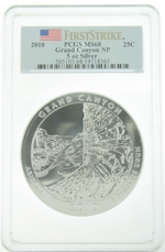 PCGS MS68 2010 5 Ounce America The Beautiful Grand Canyon Coin