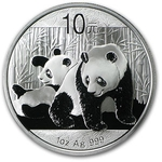 2010 1 Ounce Silver Chinese Panda Coin