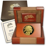 2010-W American 1 Ounce Proof Gold Buffalo Coin With Box & COA