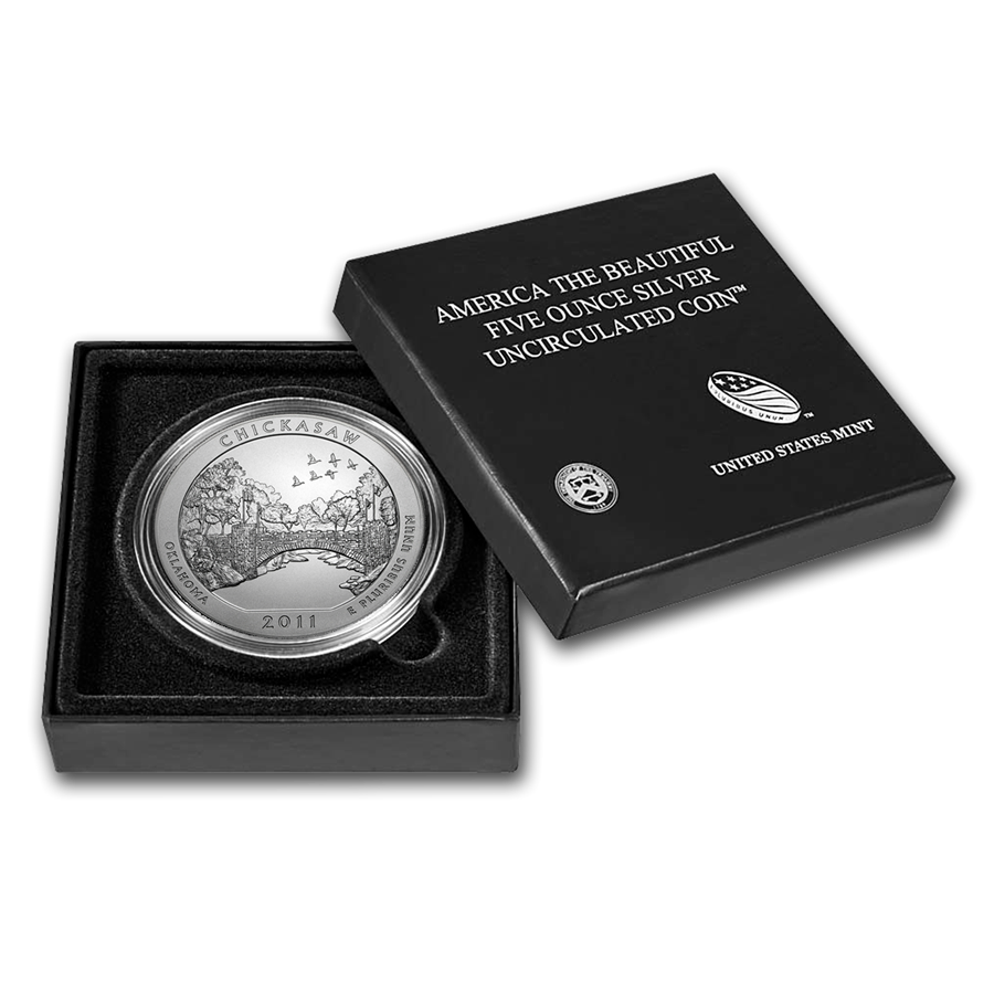 2011-P 5 oz Silver ATB Chickasaw With Box & COA