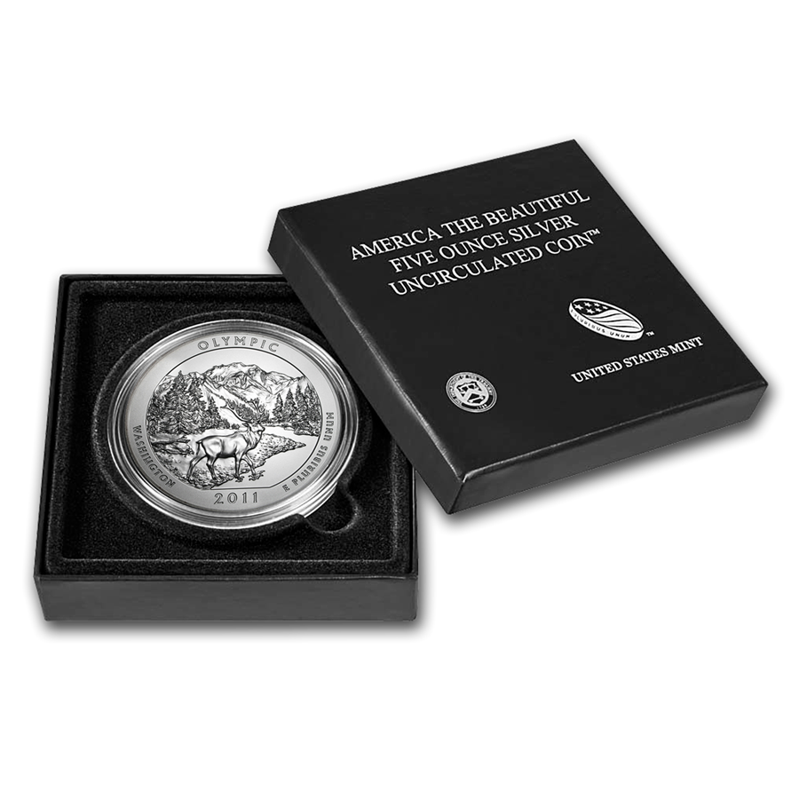 2011-P 5 oz Silver ATB Olympic With Box & COA