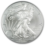 2011 1 oz American Silver Eagle Coin With Air-Tite Holder