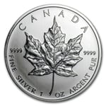2011 1 Oz Canadian Silver Maple Leaf Coin 9999 Silver