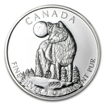 2011 Canadian Silver Wolf Coin Wildlife Series With Air-Tite