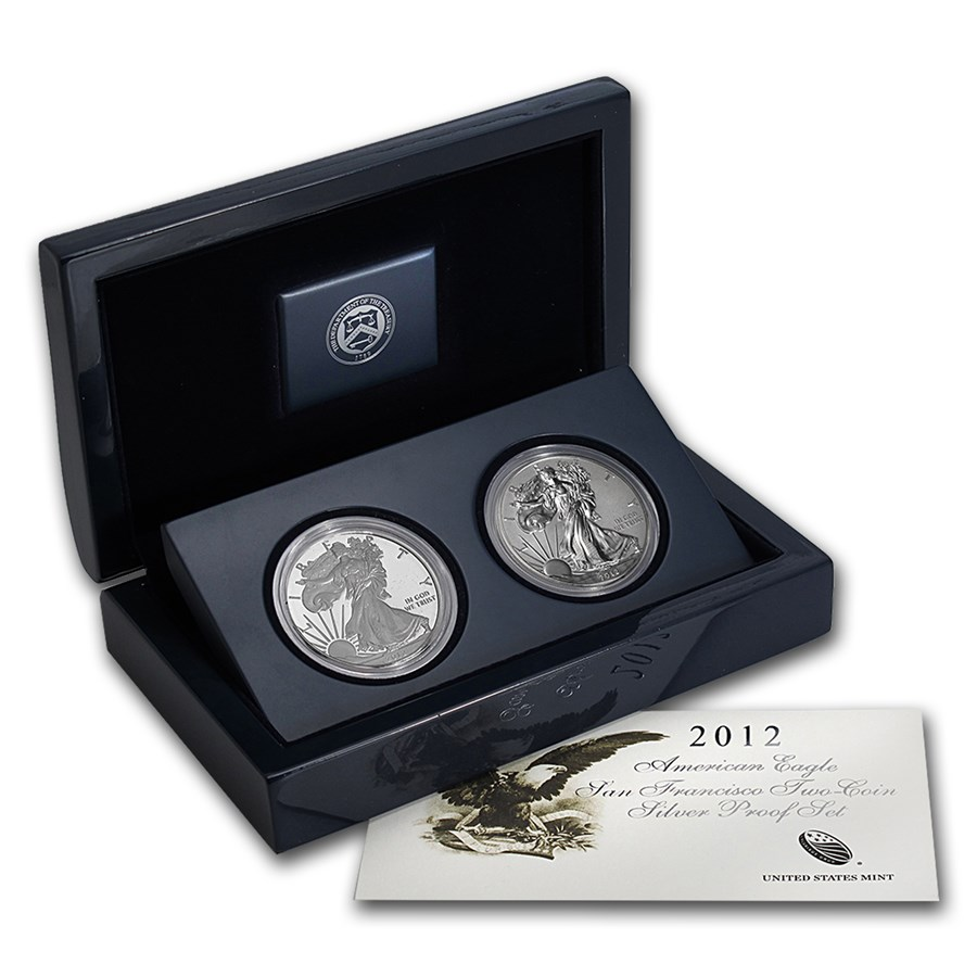 2012 American Silver Eagle West Point Set With Box & COA