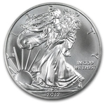 2012 1 oz American Silver Eagle Coin With Air-Tite Holder