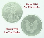 2012 1 oz American Silver Eagle Coin With Air-Tite Holder - Click Image to Close