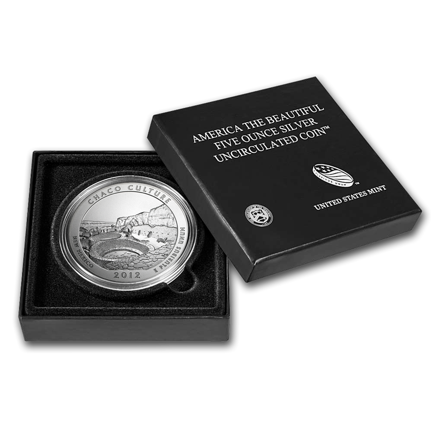 2012-P 5 oz Silver ATB Chaco Culture With Box & COA