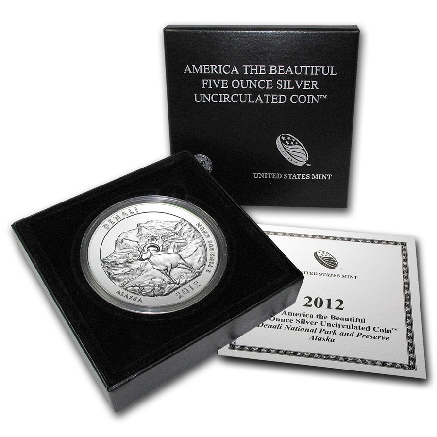 2012-P 5 oz Silver ATB Denali With Box & COA