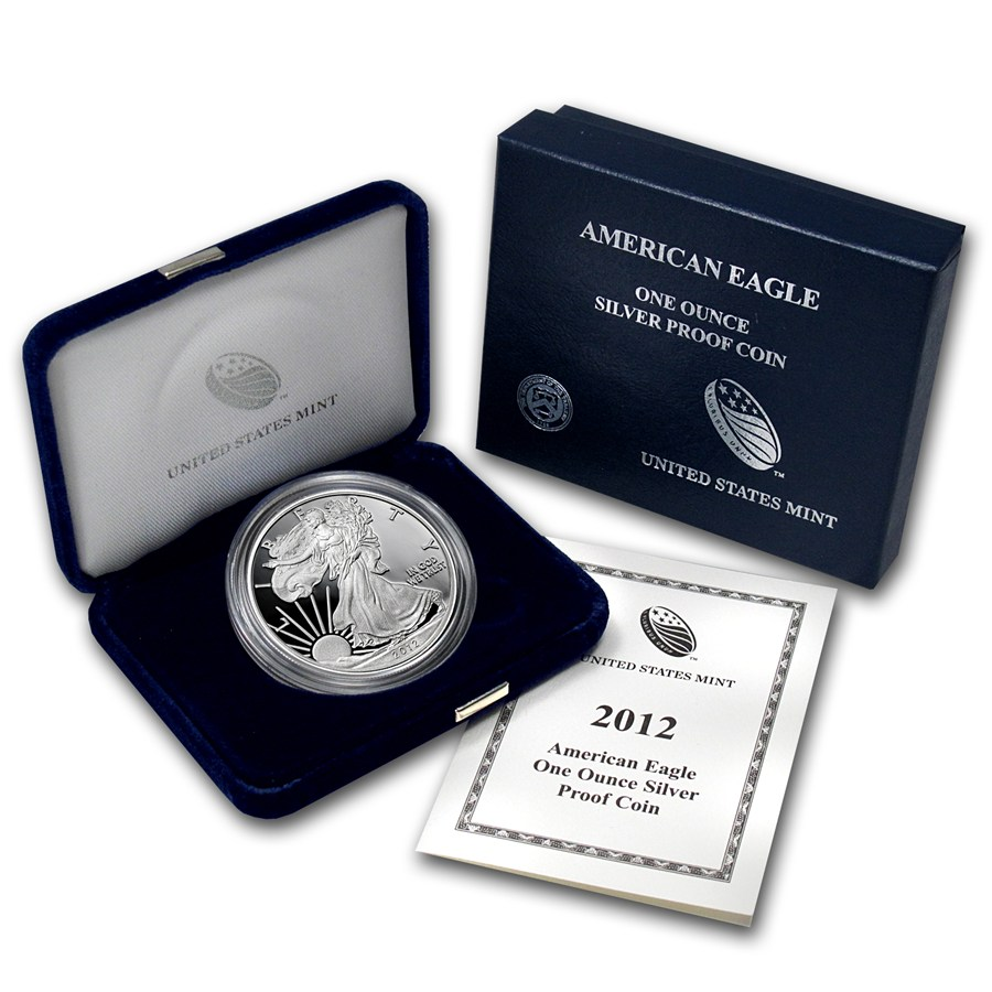 2012 W Proof American Silver Eagle Coin