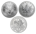 2017 Silver Coins 3 Different Coins From Around The World - Click Image to Close