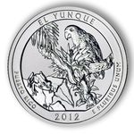 2012 5 Ounce America The Beautiful El Yunque National Park Coin