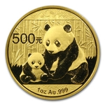 2012 1 Ounce Chinese Gold Panda Coin Sealed