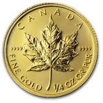 2012 1/4 Ounce Canadian Gold Maple Leaf Coin - Click Image to Close