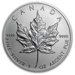 2012 Canadian Silver Maple Leaf Coin 9999 Silver With Air-Tite