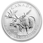 2012 Canadian Silver Moose Coins Wildlife Series With Air-Tites