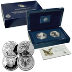 2012 S American Eagle San Francisco Two Coin Silver Proof Set